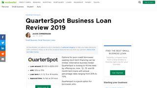 QuarterSpot Business Loan Review 2019 - NerdWallet