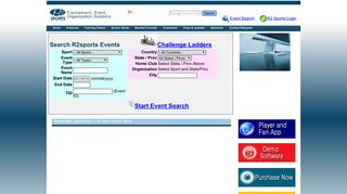 R2sports Event Search
