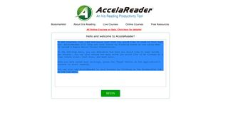 AccelaReader - Speed Reading Tool (RSVP Reader)
