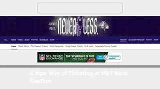 Baltimore Ravens Digital Tickets | Baltimore Ravens ...