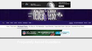 Ravens PSL FAQ | Baltimore Ravens – baltimoreravens.com