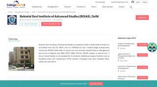Rukmini Devi Institute of Advanced Studies (RDIAS), Delhi - 2019 ...