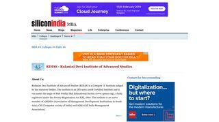 RDIAS - Rukmini Devi Institute of Advanced Studies - Delhi - MBA ...