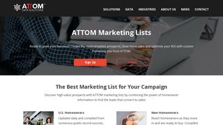 Marketing Lists - Property & Homeowners Lists | ATTOM Data Solutions