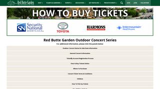 How To Buy Tickets - Red Butte Garden