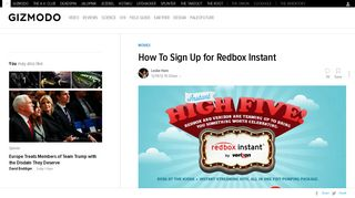 How To Sign Up for Redbox Instant - Gizmodo