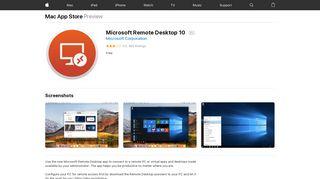 Microsoft Remote Desktop 10 on the Mac App Store - iTunes - Apple