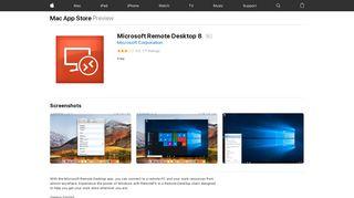 Microsoft Remote Desktop 8 on the Mac App Store - iTunes - Apple