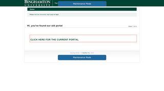 Binghamton University - Hi, you've found our old portal