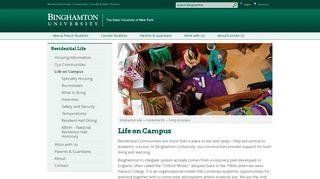 Binghamton University - Binghamton University Living on Campus