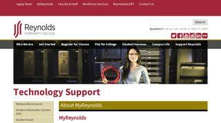 About MyReynolds | Reynolds Community College