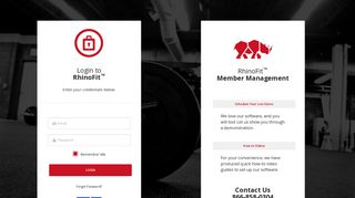 Login   RhinoFit - Member Management System