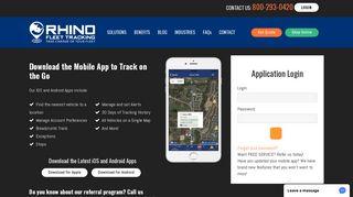 Rhino Fleet Tracking System Login