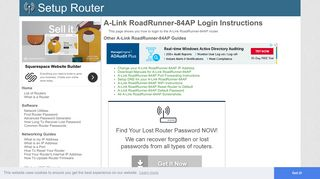 How to Login to the A-Link RoadRunner-84AP - SetupRouter