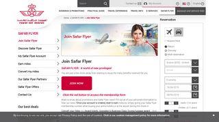 Royal Air Maroc - Join Safar Flyer