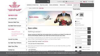 Royal Air Maroc - Earn miles