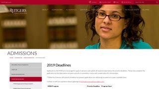 2018 Deadlines | Rutgers School of Social Work