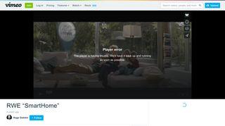 """RWE """"SmartHome"""" on Vimeo"""