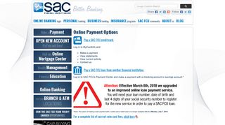 Online Payment Options | SAC Federal Credit Union