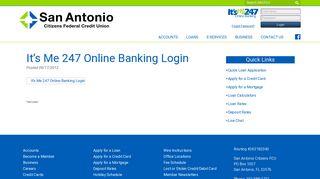 It's Me 247 Online Banking Login