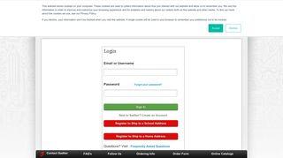 Sadlier School Store   Login Page   Create Account