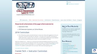 Tech + Instructor Curriculum | CPS Board