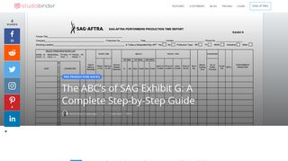 The ABC's of SAG Exhibit G: A Complete Step-by-Step Guide