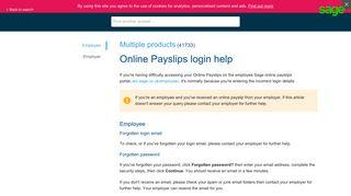 [41733] Online Payslips login help - Sage UK