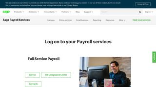 Log on to your Sage Business Cloud Payroll Services   Sage US