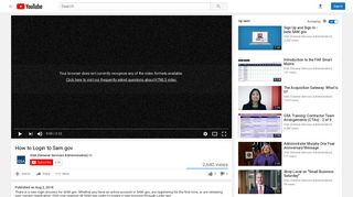 How to Login to Sam.gov - YouTube
