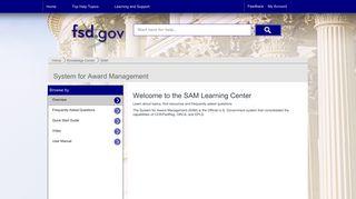 SAM - Federal Service Desk