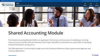 SAM - Shared Accounting Module - Bureau of the Fiscal Service