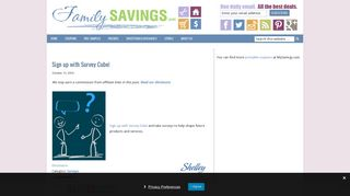 Sign up with Survey Cube! - FamilySavings