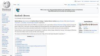 Sanford–Brown - Wikipedia