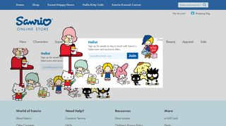 Sanrio Email Signup