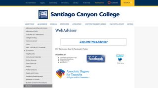 Student Records - Santiago Canyon College