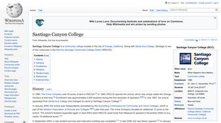 Santiago Canyon College - Wikipedia