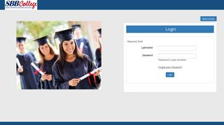 Login to Student Portal - SBBCollege