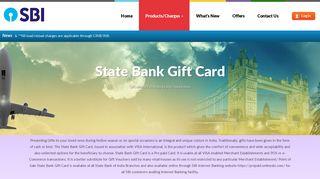 State Bank Gift Card - Customer Portal - OnlineSBI