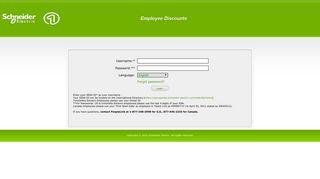 Schneider Electric Discounts User Login