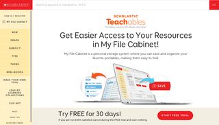 My File Cabinet - Scholastic Teachables