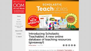 Introducing Scholastic Teachables: A new online database of teaching ...