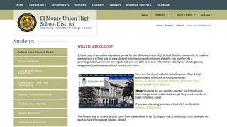 Students / School Loop Student Portal - El Monte Union High School ...