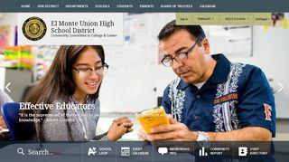El Monte HS SchoolLoop Page - El Monte Union High School District