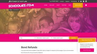 Schoolies Bond Refunds | Schoolies.com