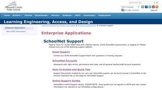 schoolnet support - Albemarle County Public Schools