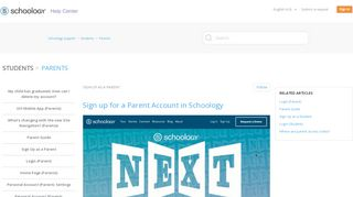 Sign Up as a Parent – Schoology Support