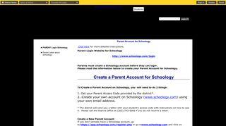 Schoology / PARENT Login Schoology - Brandywine School District