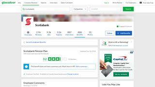 Scotiabank Employee Benefit: Pension Plan | Glassdoor