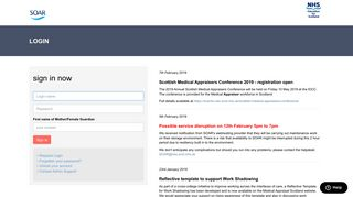Login to Scottish Online Appraisal Resource